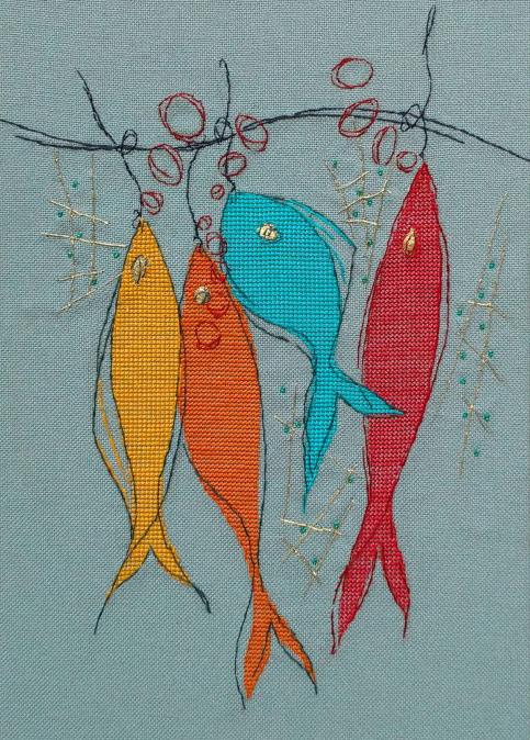 Схема вышивки «рыба» вышивка крестом.