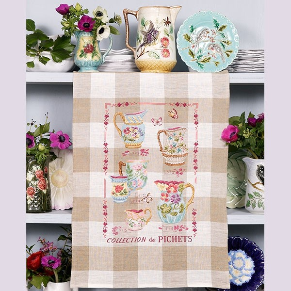 Les brodeuses parisiennes - Collection de pichets / Jug Collection Tea towel