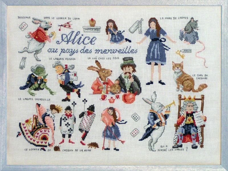 Схема вышивания алиса стране чудес