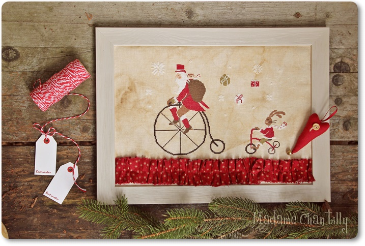 Madame Chantilly - Santa on the bike