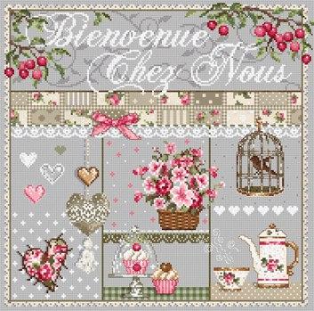 Французская вышивка крестиком схемы