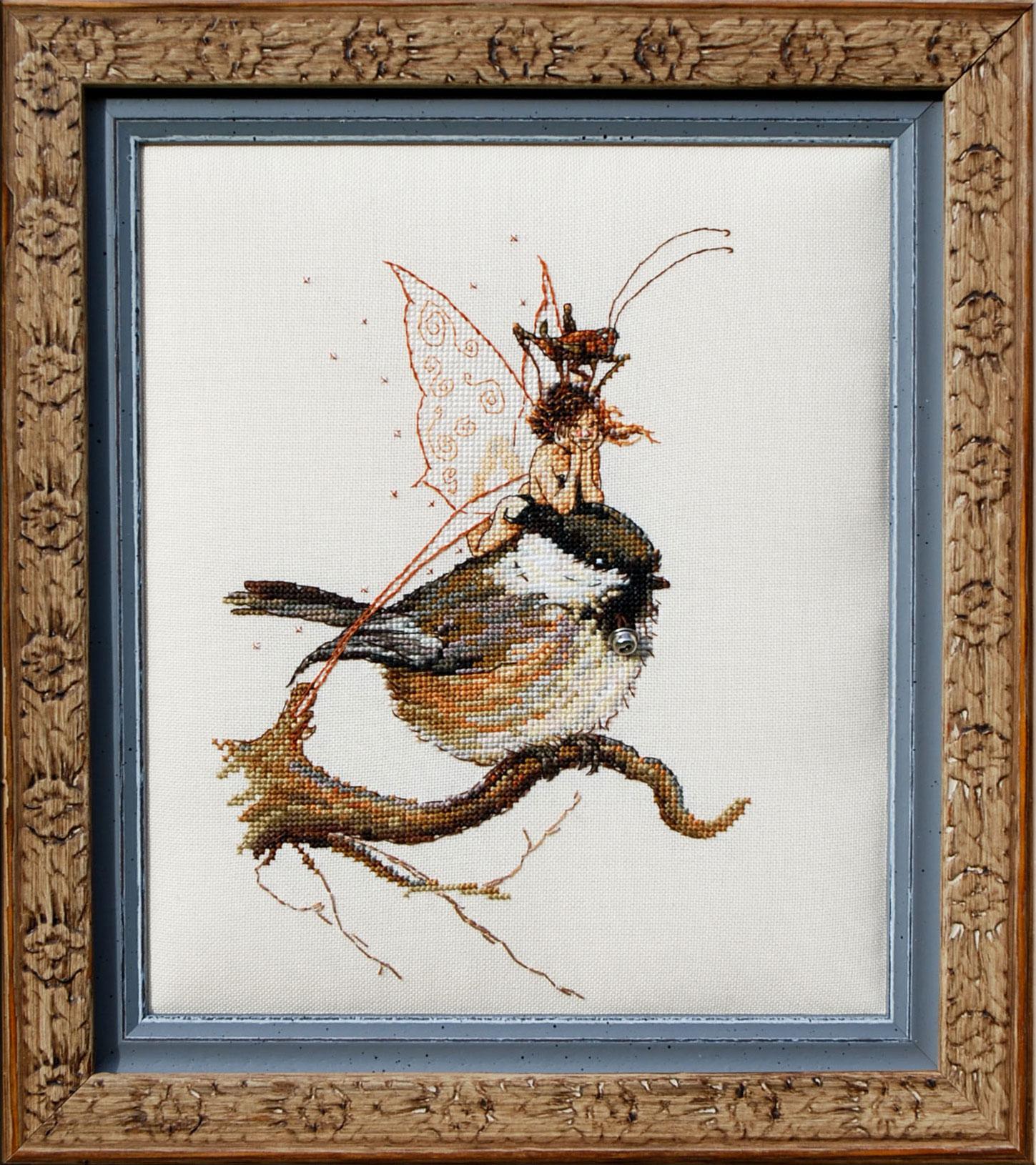 вышивка крестом фея и зимородок схема