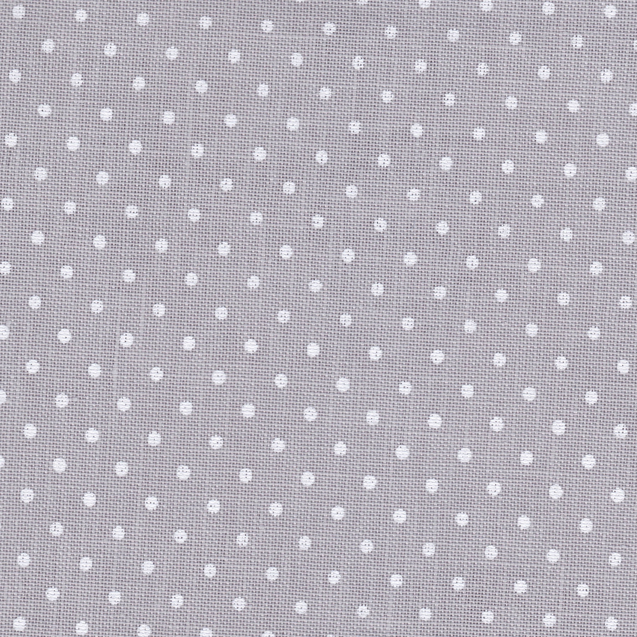32 ct Belfast Petit Point 3609/7349 (серый в белый горошек) Gray linen/white dots