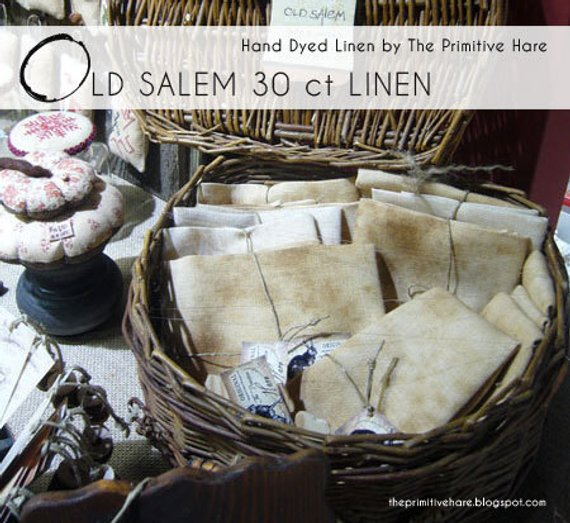 The primitive hare - Old Salem linen 30 ct