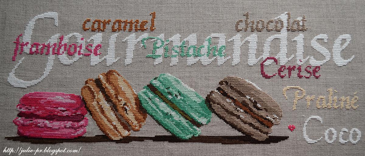 Схемы вышивки крестом макарун