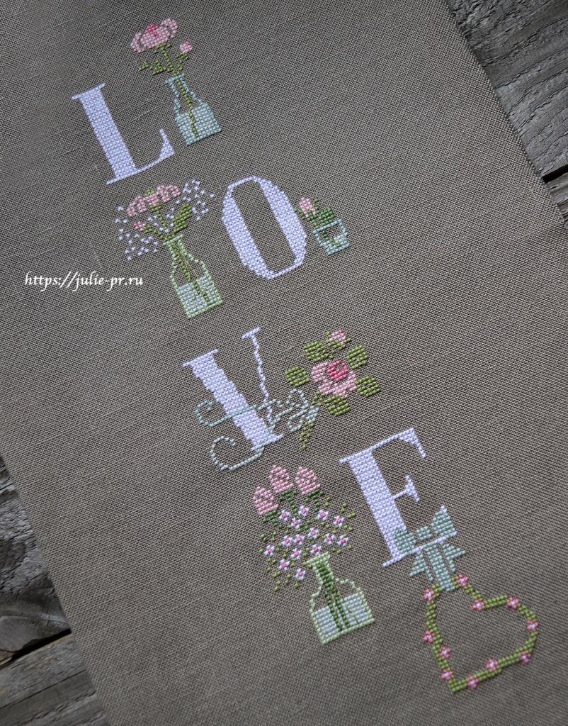 Схема вышивки крестом my love